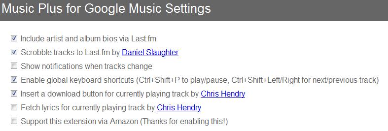 Google MusicのChrome拡張機能
