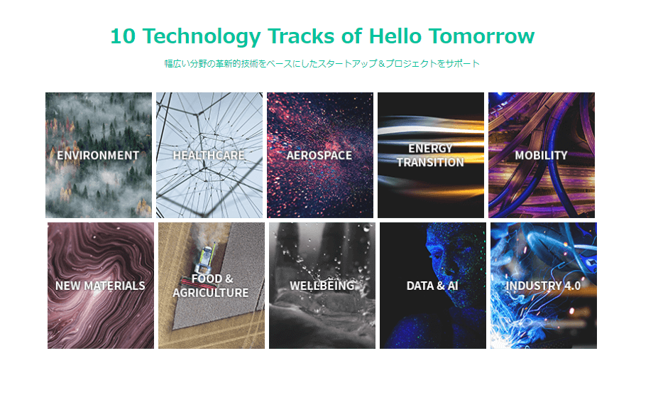 10 Technology Tracks of Hello Tomorrow