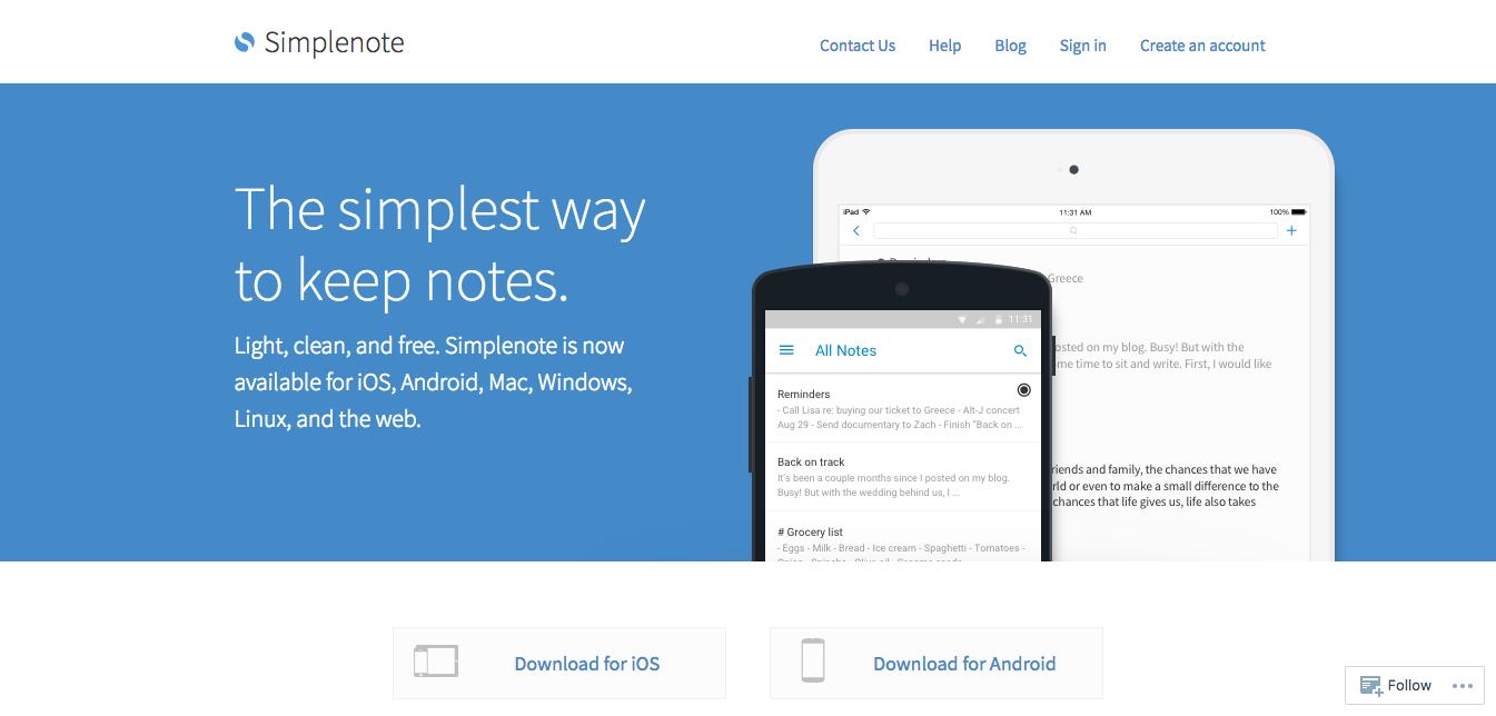 いつでも手軽にメモを書くならSimplenote。Evernoteから乗り換えた理由