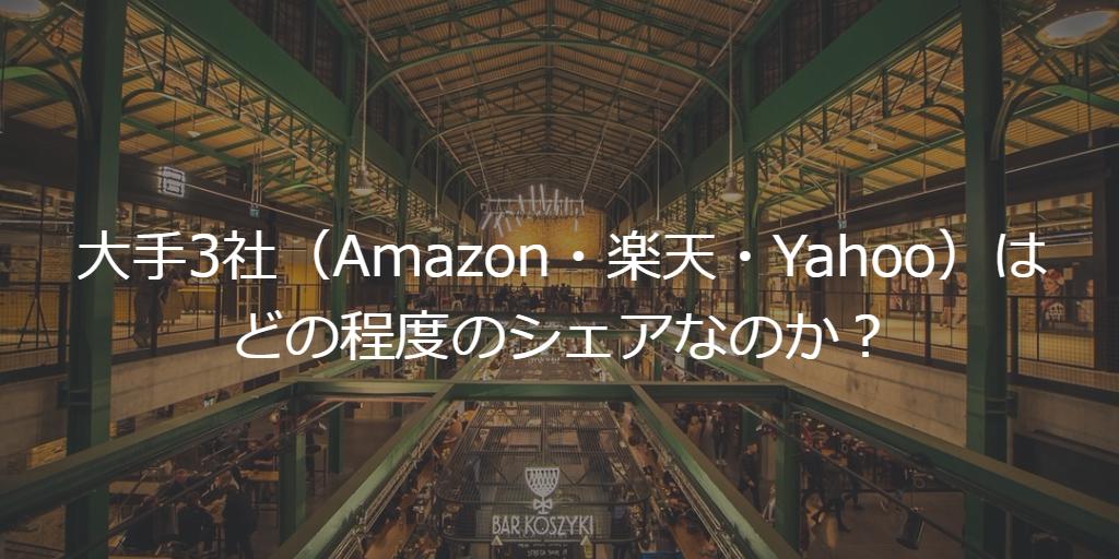 Amazon・楽天・Yahooの流通総額からみるEコマース市場
