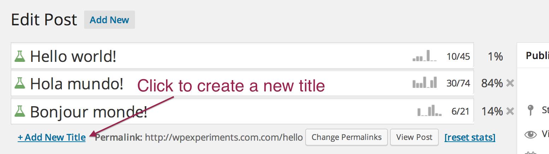 WordpressでタイトルのA/Bテストができる「Title Experiments Free」
